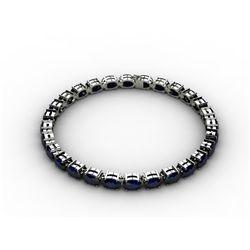 Genuine 13.80 ctw Sapphire Bracelet 10k W/Y Gold,9.9g