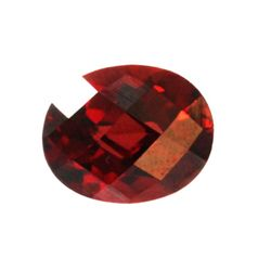 Natural 6.68ctw Garnet Checker Board Oval 10x12 Stone