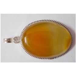 Natural 78.90 ctw Yellow Onex Pendant 925 Sterling