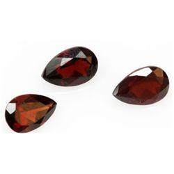 Natural 3.67ctw Garnet Pear Shape 6x9 (3) Stone