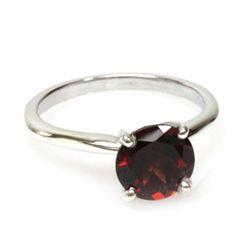 Natural 1.75ctw Garnet .925 Sterling Silver Ring