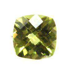 Natural 6.63ctw Peridot Checker Cussion 7x7 (4) Stone