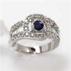 6.57g 14k White Gold Diamond Ring