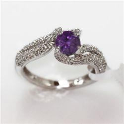 4.00g 14k White Gold Diamond Ring