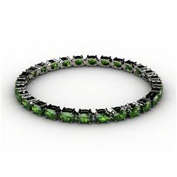 Genuine 11.96 ctw Emerald Bracelet 10k W/Y Gold,9.9g