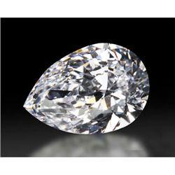 Diamond GIA Cert. Pear 0.52 ctw E, VVS2