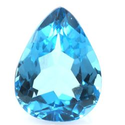 82.6ctw Blue Topaz Pear Shape Semi-Precious Stone