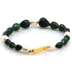 Natural Emerald Pearl Bracelet 97.46 ctw