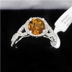 4.32g 14k White Gold Diamond Ring