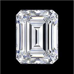 Diamond EGL Cert. Emerald 0.59 ctw D, Vs2