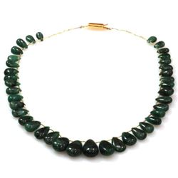 Natural Emeralds Graduated Necklace 157.80 ctw