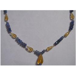 Natural 63.40ct Tanzanite/Semi Precious Necklace .925 S