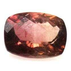Natural 2.15ctw Bi-Color Tourmaline Cushion Stone