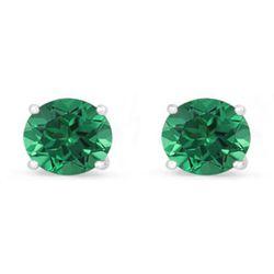 Genuine 2.52 ctw Emerald Stud Earring 14k 0.92g