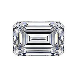 Diamond EGL Cert. Emerald 0.75 ctw D, VS2