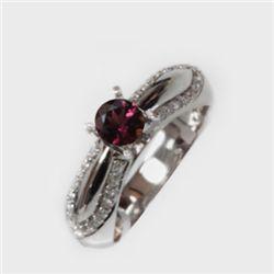 Natural 1.36 ct 5.17g Pink Tourmaline 14k WG Ring