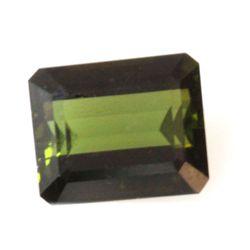 Natural 4.64ctw Green Tourmaline Emeral Cut 10x12 Stone