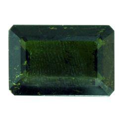 Natural 15.55ctw Green Tourmaline Emerald Cut Stone