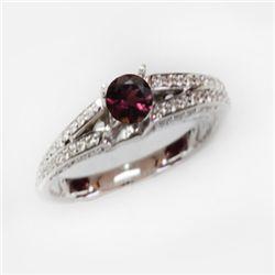 Natural 1.39 ct 4.41g Pink Tourmaline 14k WG Ring