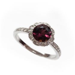 Natural 1.27 ct 3.38g Pink Tourmaline 14k WG Ring