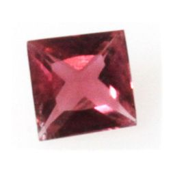 Natural 1.3ctw Pink Tourmaline Checkerboard Stone