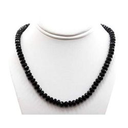 Black Spinal 281.28 ctw Necklace