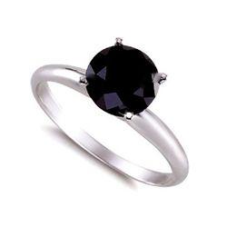 Genuine  Black Diamond 3.0 ctw Ring 14K W/Y Gold