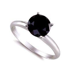 Genuine  Black Diamond 2.0 ctw Ring 14K W/Y Gold