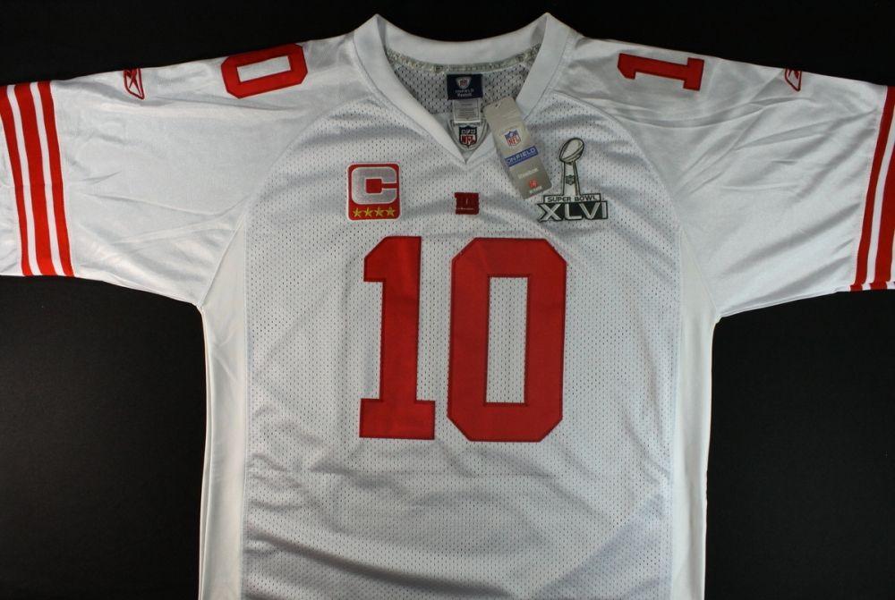 Eli Manning Signed Giants Super Bowl Jersey Inscribed Sb