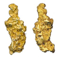 ALASKA GOLD NUGGET. A beautiful sold gold nugget. Buttery yellow in colour. Weight. 35.30 grams. 1.1