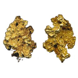 ALASKA GOLD NUGGET. Another solid gold nugget with an unusual sculpted appearance resembling a meteo