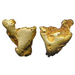 ALASKA GOLD NUGGET. A solid gold nugget. This chunky example has mostly smooth edges and obviously r