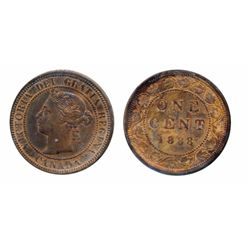 1888. ICCS Mint State-63. Red-Brown. Rev. staining. 30% luster, on the obverse. The reverse with 50%