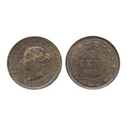 1893. Red-Brown. 50% luster; 1942. Both ICCS Mint State- 63, Red. Lot of two (2) cents.