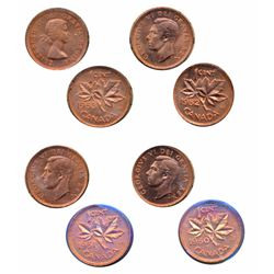 1950. ICCS Mint State-64. Red. Full luster; 1951. ICCS Mint State-64. Red. 80% red luster; 1952. ICC