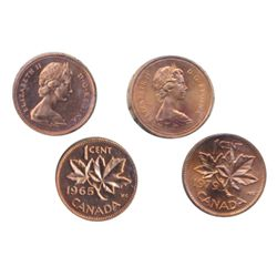 1965. Type 3. ICCS Proof-Like-64; 1979. ICCS Mint State-66, Red. Lot of two (2) coins.