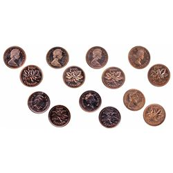 1966. ICCS Mint State-66. Red; 2001P, 2004P. Both ICCS Numis. BU-67. Red; 1964, 1966, 1969, 1971. Al