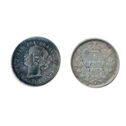 1875-H. Small Date. Very Fine-20. Porous obverse surfaces.