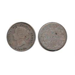 1875-H. Large Date. PCGS graded Very Fine-35. Medium heavy toning.