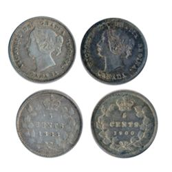 1883-H. Very Fine-25; 1900, Oval O. CH AU-55. Lot of two (2) nicely toned coins.