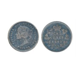 1885. 5 over 5 variety. ICCS Fine-12; 1887. ICCS Very Fine- 20. Lot of two (2) scarce date coins.