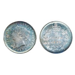1893. ICCS Mint State-65. A superbly toned Gem example. Strongly struck with flawless fields. Excell