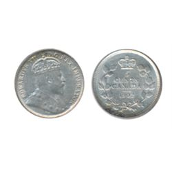 1902. 1905. ICCS AU-55; 1908. Small '8'. ICCS AU-50. Lot of two (2) coins.