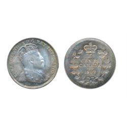 1902-H. Small H. ICCS Mint State-65. Flashy toning and luster. A true Gem.
