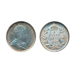 1909. Round Leaves. PCGS graded Mint State-64. Brilliant and lustrous.