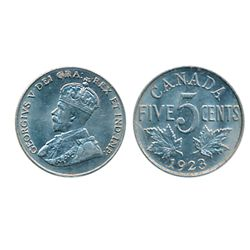 1923. ICCS Mint State-63. A well struck, brilliant and lustrous piece.