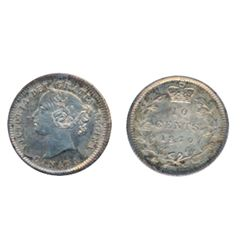 1870. Narrow O. ICCS Mint State-62. Excellent strike and very clean fields. Medium heavy deep amber