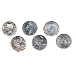 1937, 1949. Both ICCS Mint State-64. 1943. ICCS Mint State- 63. Cameo. Lot of three (3) coins.