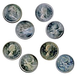 1958, 1960, 1968 Silver. All three (3) are Gem ICCS Mint State-65. 1961. ICCS Mint State-65. Cameo.