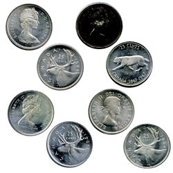 1964, 1965, 1967, 1968, Silver. Cameo. All four (4) are Gem ICCS Mint State-65.